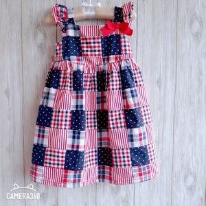 Gymboree 4th Of July Patchwork  Dress Size 3T
